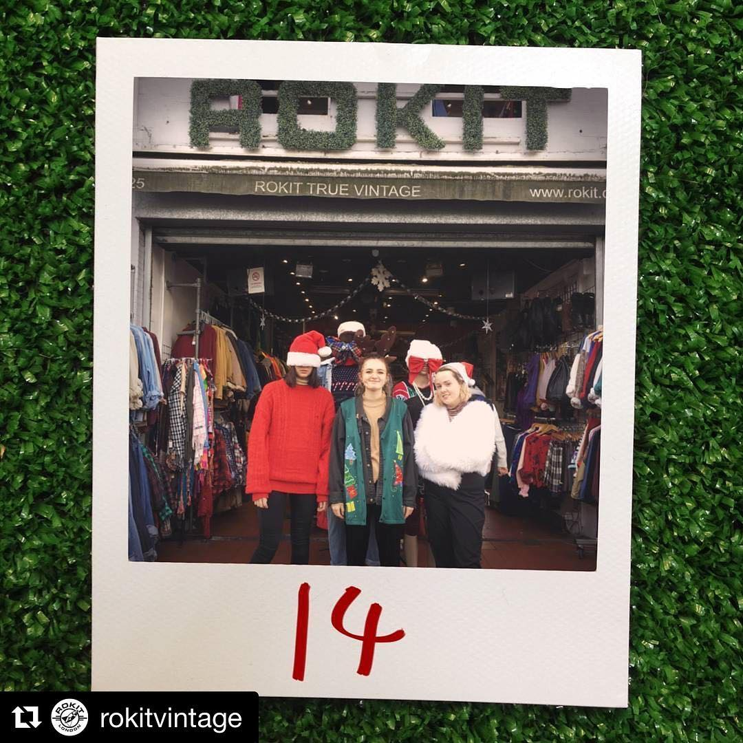Regram rokitvintage  Our Camden team feeling Christmas ready rememberhellip
