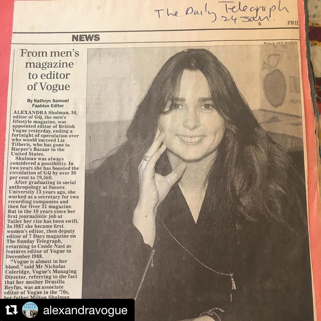 Regram alexandravogue  24Jan 1992 the day after I washellip